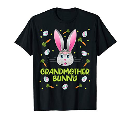 Grandmother Bunny T-Shirt Easter Egg Hunting Costume Gift -
