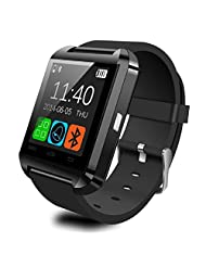 TOOPOOT(TM) U8 Bluetooth Smart Wrist Watch Sports Pedometer Healthy for Samsung (black)