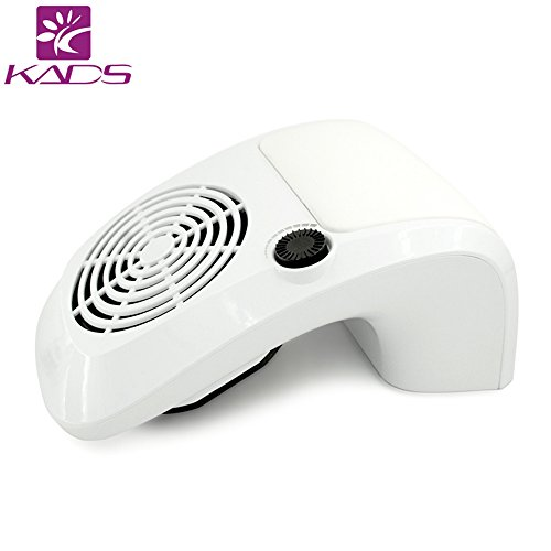 KADS Adjustable Nail Dust Collector Suction Fan with 2 Dust Collecting Bags, Powerful Nail Vacuum Cleaner Machine Manicure Tools, Practical Nail Art Salon Cleaning Equipment (110V)