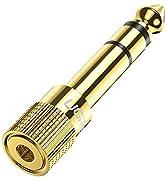 UGREEN Adaptateur Jack 6.35mm Mâle vers 3.5mm Femelle Adaptateur Casque Prise Jack 6.35mm Aux Jac...