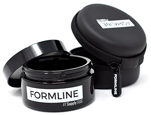 Formline 1/4 oz Smell Proof Container (100 ml) - Airtight Stash Jar w/Black Ultraviolet Glass Preserves Contents and Odors Inside Includes Discreet Travel Case to fit Bags or Backpack