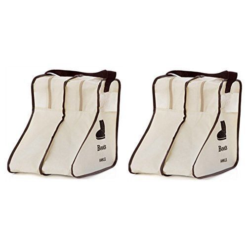 Nizzco Portable 2 Packs,Short Boots Storage/Protector Bag,Boots Cover(Gream) (Easy Homemade Cowboy Costumes)
