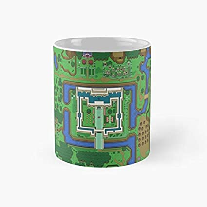 Link To The Past Light World Map.Amazon Com Snes Zelda 110z Mugs Kitchen Dining