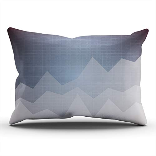 MUKPU Pillow Covers Financial Chart with Uptrend Line Graph Throw Pillow Case Hidden Zipper Decorative Custom Pillow Cases One Side Printed Lumbar 12x24 Inches