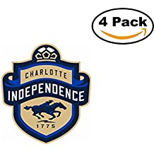 fan products of Soccer Charlotte Independence Logo 3 4 Stickers 4X4 Inches Car Bumper Window Sticker Decal