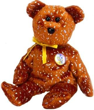 Amazon.com  TY Beanie Baby - DECADE the Bear (Brown Version - Internet  Exclusive)  Toys   Games 0398ac21d824