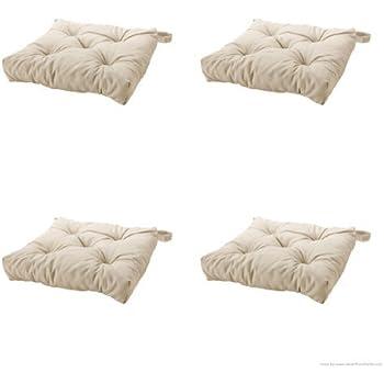 Nice Ikeas MALINDA Chair Cushion, Light Beige 4 Pack
