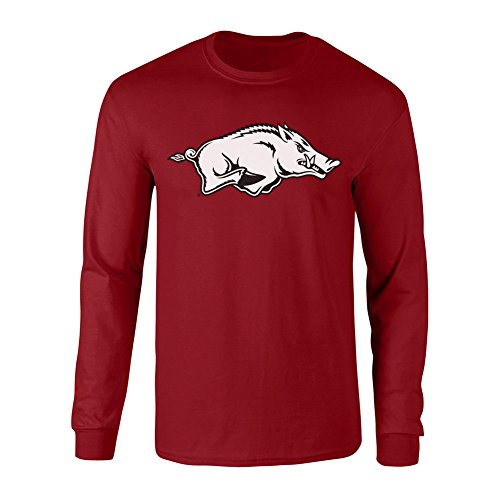 - Elite Fan Shop Arkansas Razorbacks Long Sleeve Tshirt Cardinal - XL