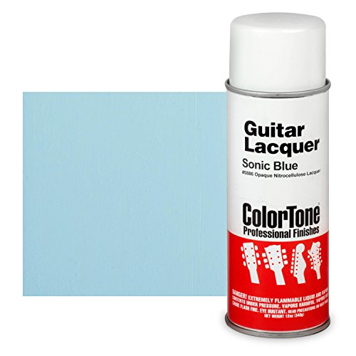 ColorTone 50s Classic Colors Aerosol Guitar Lacquer, Sonic Blue ()