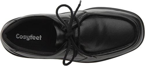 Cosyfeet Max Schuhe - Besonders Geräumig/Extra Roomy (Breite Passform M+ Euro/HH+ Width Fitting UK) Schwarz, Leder