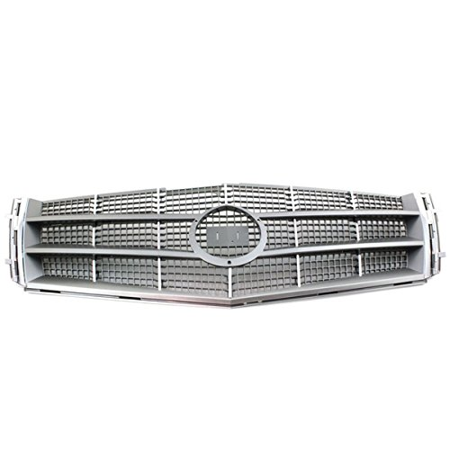 Koolzap For 08-11 CTS Front Grill Grille Assembly Gray Insert Chrome Trim GM1200616 25896043