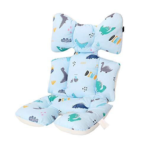 Baby Stroller Cushion Pad,Breathable Cotton Cushion Liner Mat Light Cover Protector for Pushchair Car Seat High Chair (E) (Bouncer Wireless)