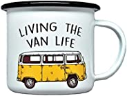 Metal Cup Enamel Camping Beverage Mug with RV Funny Quotes
