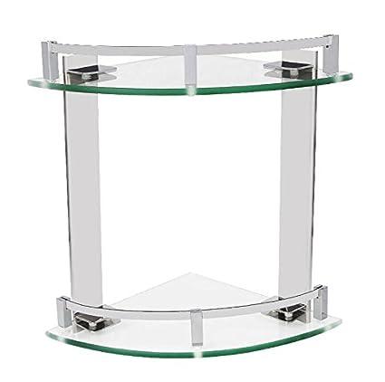 KIEYY Acero inoxidable 20cm soporte de esquina de cristal ...