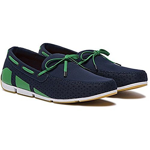 f9ae568db40 Galleon - SWIMS Men s Breeze Lace Loafer Shoes - Navy Green White