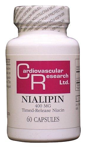 Recherche Cardiovasculaire - Nialipin (B-3 T / R niacine), 400 mg, 60 capsules