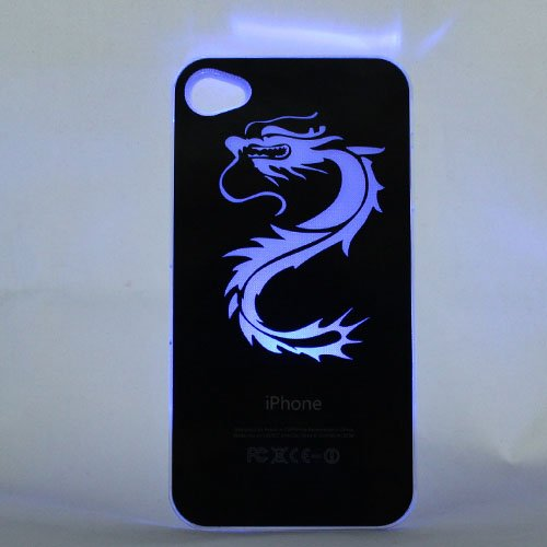 promo code 75826 f0490 JOINNEW@ Dragon Sense LED Flash Light up Case Cover for Apple Iphone 4 4s 4g