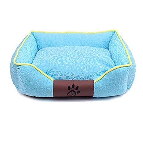 Jlxl Cama para Perros, Cuatro Estaciones Respirable Tres Dimensional Franela Mascotas Estera Nido Mantener Calentar