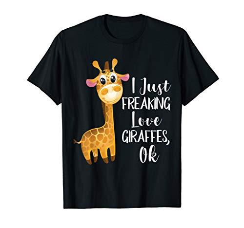 I Freaking Love Giraffes Women TShirt - Giraffe Lovers ()