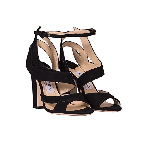 Jimmy Choo Women's FALCON100SUEDEBLACK Black Suede Sandals cheap for nice XM1Jf8