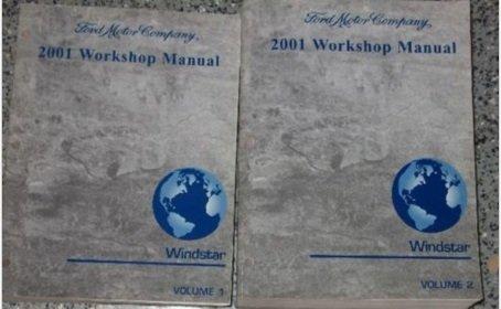 - 2001 Ford Windstar MINI VAN Service Shop Repair Manual Set OEM FACTORY 2 VOL