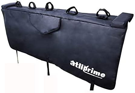 atliprime Truck Tailgate Pickup Pads 54 Bike mat with 2 Tool Pockets and 5 Soft Bike Set