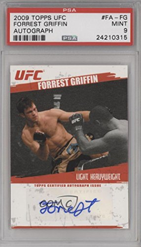 Forrest Griffin PSA GRADED 9 (Trading Card) 2009 Topps UFC - Fighter Autographs #FA-FG