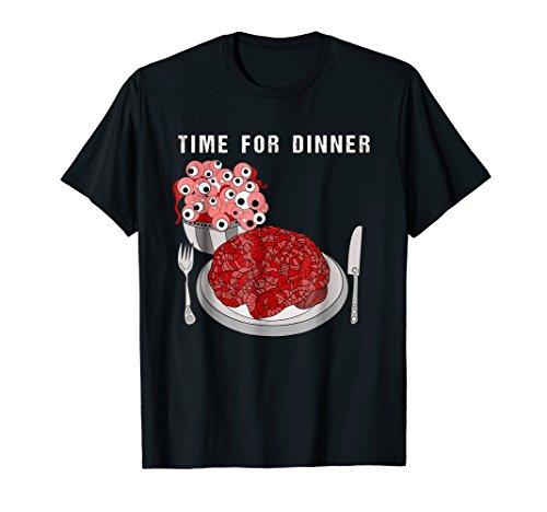 creepy halloween dinner eyeballs and brains t-shirt for $<!--$19.99-->