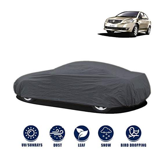Kingsway Dust Proof Car Body Cover for Maruti Suzuki SX4 (Model Year : 2007-2013) (Grey Matty, Triple Stitched)
