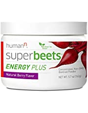 humanN Superbeets Energy Plus Superfood, Concentrated Beetroot Supplement with Green Tea Extract, 5.7 Ounces, Natural Berry Flavor