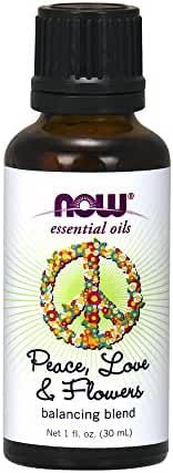NOW Foods Peace, Love and Flowers Essential Oil Blend, Sweet, Floral, 1 Ounce