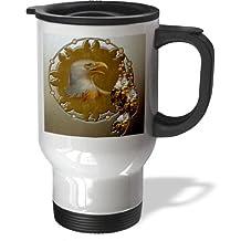 3dRose Designer One of a Kind Native American Art - Travel Mug, 14oz., Stainless Steel (tm_108092_1)