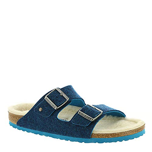 Birkenstock New Women's Arizona Rivet Slide Sandal Doubleface Blue 38 N ()
