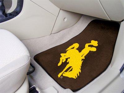 Fan Mats University of Wyoming 2-pc Carpet Car Mat Set/17