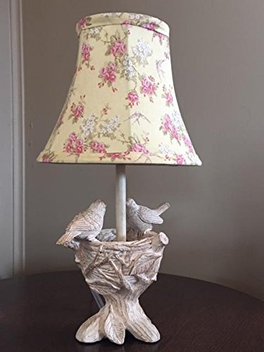 Birds on Nest Accent Lamp and Shade (Table Bird Lamp Nest)