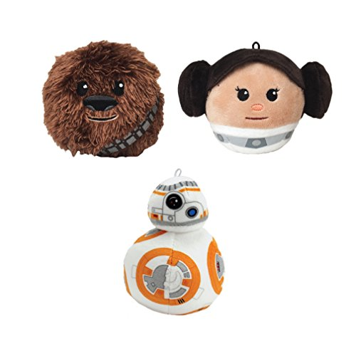 Star Wars Fluffball Ornament 3 Pack - Princess Leia, BB8 and Chewbacca