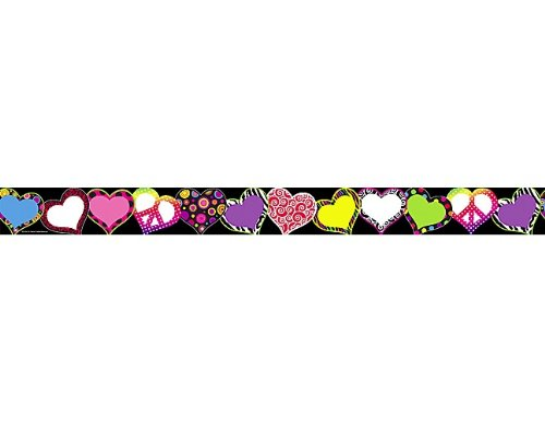 Hearts Border Trim - Teacher Created Resources Fancy Hearts Straight Border Trim (5255)