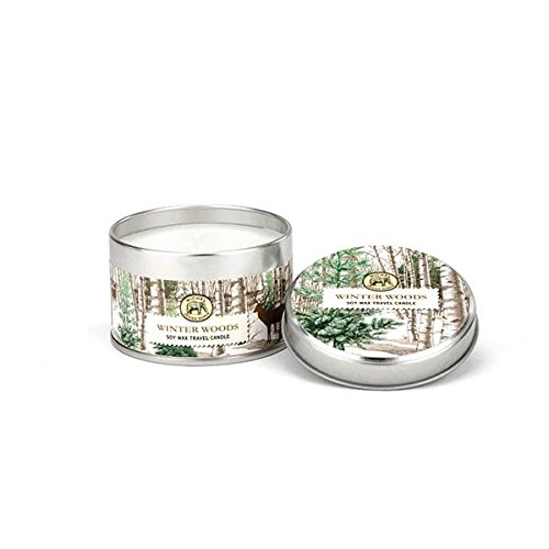 Michel Design Works Scented Soy Wax Candle, Winter Woods, Travel Tin Size by Michel Design Works