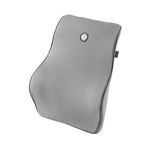 GiGi Driving Comfortable NASA Space Memory Foam Lumbar Pillow|Lumbar pad close-fitting spinal lumbar pillow|Three-dimensional Lumbar Cushion in travel/office/home/car-GRAY