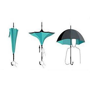 Zhen Lin Nuevo Estilo Doble Reversa Paraguas Revés Paracaídas Creativa Hueso Recto Inverso Paraguas Valgo Paraguas