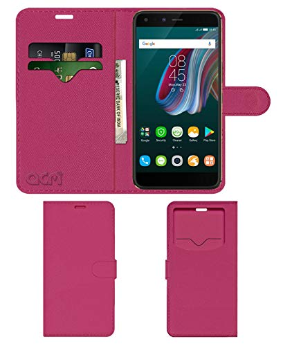 Acm Leather Window Flip Wallet Front   Back Case Compatible with Infinix Zero5 Pro Mobile Cover Pink