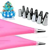 Orland Practical Western Kitchen Baking Utensils Stainless Steel Cake Decorating Tool Set (Pink)