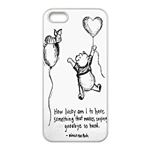 K-G-X Phone case For Apple Iphone 5 5S Cases Case-Pattern-18 Cute Bear Winnie Protective Back Case