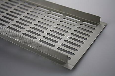 MS Beschl/äge L/üftungsgitter Stegblech L/üftung aus Aluminium 130mm x 300mm in verschiedenen Farben Silber eloxiert - F1