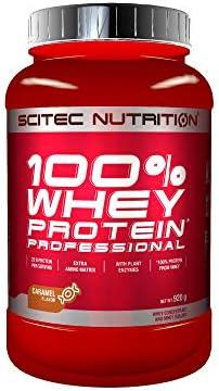Scitec Nutrition 100% Whey Protein Professional con aminoácidos clave y enzimas digestivas adicionales, 920 g, Caramelo