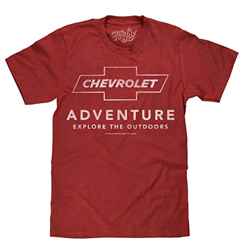 Tee Luv Chevrolet Adventure T-Shirt - Explore The Outdoors Chevy Shirt - Graphic Camaro Tee