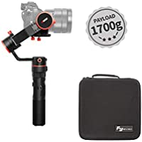 FeiyuTech a1000 3-Axis Handheld Gimbal Stabilizer for Mirrorless Camera, Compatible with NIKON/SONY/CANON Series DSLR Camera/GoPro Action Camera/Smartphone,1700g Payload,45 Degree Elevation Design