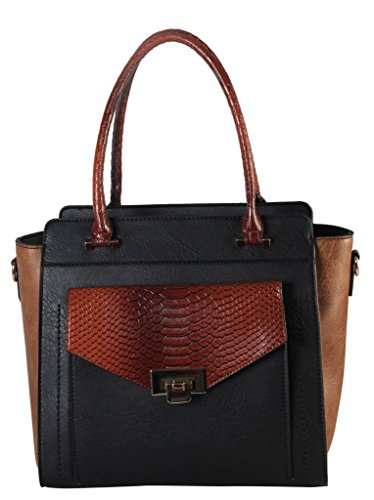 diophy-pu-leather-front-push-lock-pocket-two-tone-structured-tote-womens-purse-handbag-ps-3374-ab-03