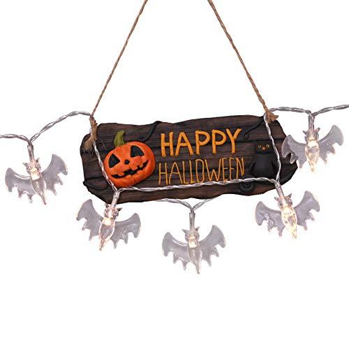 Halloween Decoration Lights DOOIOR Warm White Bat Vampire LED String Lights Halloween Night Party Bar Decoration Lights]()