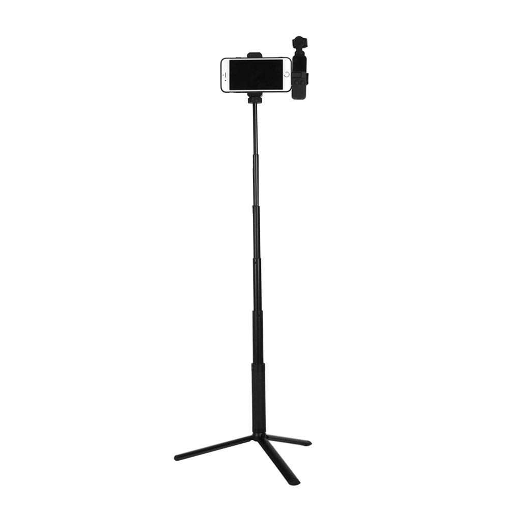 ZEEY Extension Cellphone Holder Bracket + Tripod + Monopod Pole Set Compatible with DJI Osmo Pocket Handheld Gimbal Camera by ZEEY
